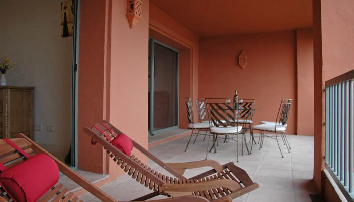 Photo de la terrasse avant