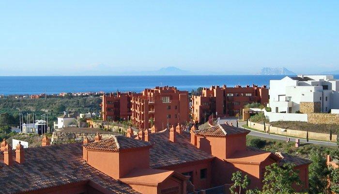 Photo de la vue sur la mer depuis la terrasse